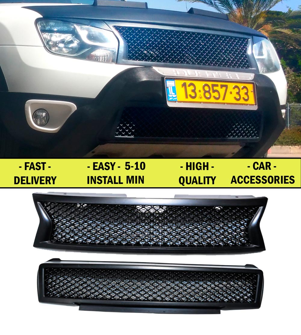 Radiator grille for Renault \ Dacia Duster 2010- FL 2015- pcs ABS plastic front bumper decor design sports styles car styling авто в москве dacia duster