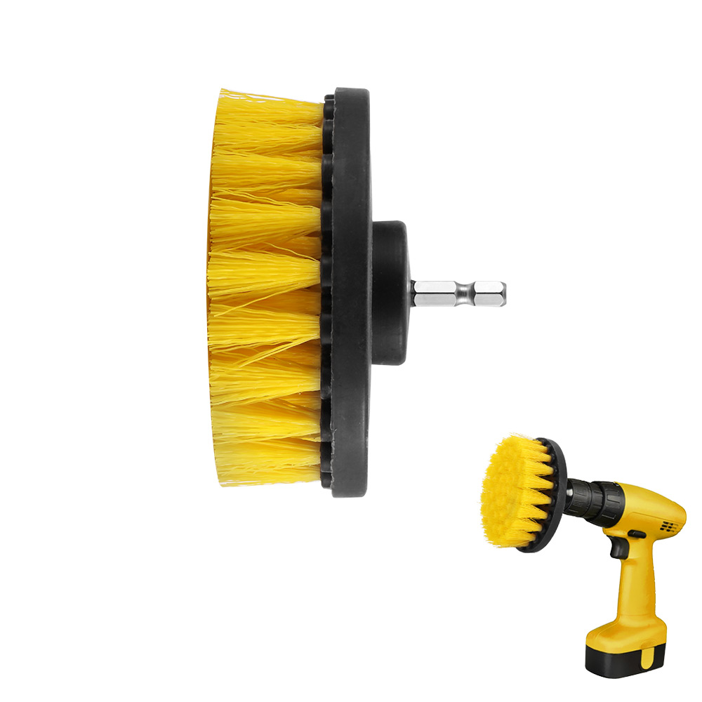4inch Drill Power Scrub Clean Brush For Leather Plastic Wooden Furniture Car Interiors Cleaning Power Scrub-in Brush from Tools