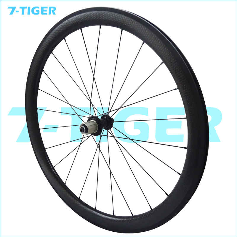 Carbon fiber Road bicycle Wheel 45mm dimple aerospoke with Powerway R13 hub cosmic bora wheels fat bike Wheelset 700c Clincher стоимость
