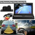 4.3 Inch TFT LCD Display Car Monitor + Waterproof Parking Radar Sensor Car Rear View Parking Camera + Speaker