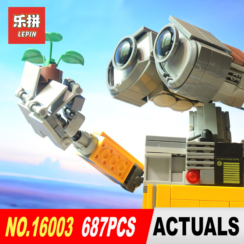 2017 New Lepin 16003 Idea Robot WALL E Building Set Kits Toys Educational Bricks Blocks Bringuedos 21303 for Children DIY Gift 2017new lepin16003 idea robot wall e building set kitstoys e kits blocks single sale brickstoystoys for childrenbirthdaygifts