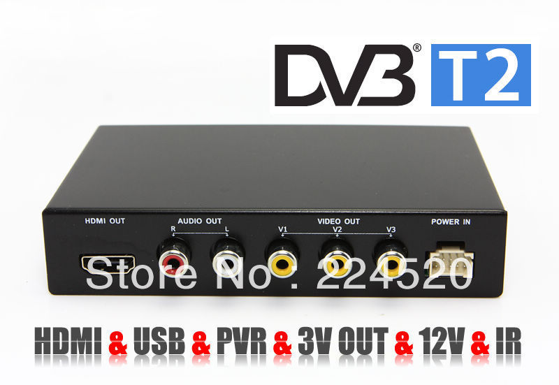 HD Car Digital TV Tuner Receiver Box DVB DVB-T2 MPEG4 / MPEG2 H.264 Mobile T2 Europe Russia - Sam's store