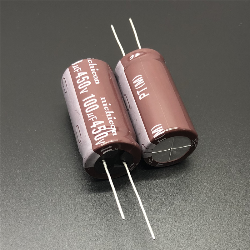 2Pcs/10Pcs 100uF 450V NICHICON PT Series 18x36mm High Ripple Current Long Life 450V100uF Aluminum Electrolytic Capacitor