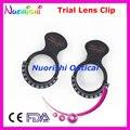 Tc206 optometría óptica oftálmica lente de prueba Clip Halberg Clips Frame By funda de plástico duro negro boxpacked envío gratis