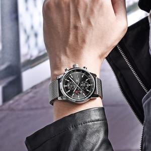 Image 2 - Benyar мужские часы Топ бренд класса люкс мужские сетчатые кварцевые Хронограф военные водонепроницаемые наручные часы мужские спортивные часы relojes hombre