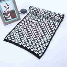 Winter Scarf Luxury Brand Pattern Tartan Cashmere Scarf Men Spring Casual Sjaal Geometric Foulard Homme YJWD640