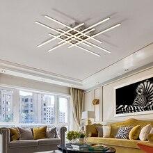 Modern Led Chandeliers Light Chrome plating Metal Dining Room Led Pendant Chandelier Lights Living Room Hanging Lamp Fixtures