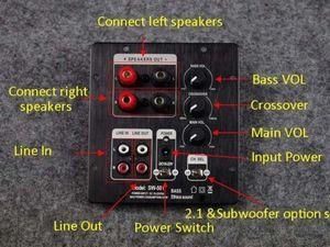 Image 5 - TPA3118 60W + 30Wx2 2.1 HIFI dijital Subwoofer güç amplifikatörü kurulu W/ 2.0 çıkış