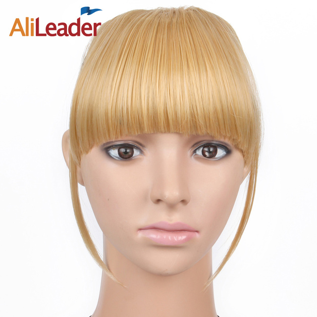 Alileader brown black blonde synthetic clip in bangs fringe hair alileader brown black blonde synthetic clip in bangs fringe hair extensions 6 inch short straight front pmusecretfo Image collections