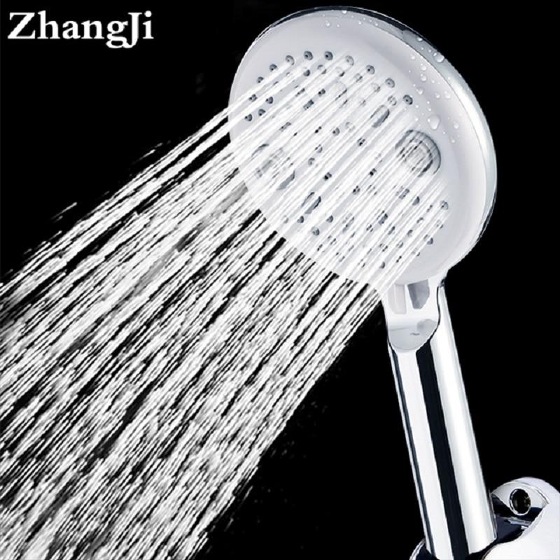 ZhangJi Occhio di Gatto di Disegno Bagno Doccia a Pioggia Testa Moderna 5 Funzione di Risparmio Idrico del 115mm Lager Pannello Soffioni per doccia A Spruzzo