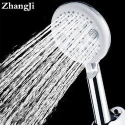 Olho de Gato Projeto ZhangJi Banho Rain Shower Cabeça Moderna 5 Função de Poupança De Água de 115mm Painel Lager Cabeças de Chuveiro Spray