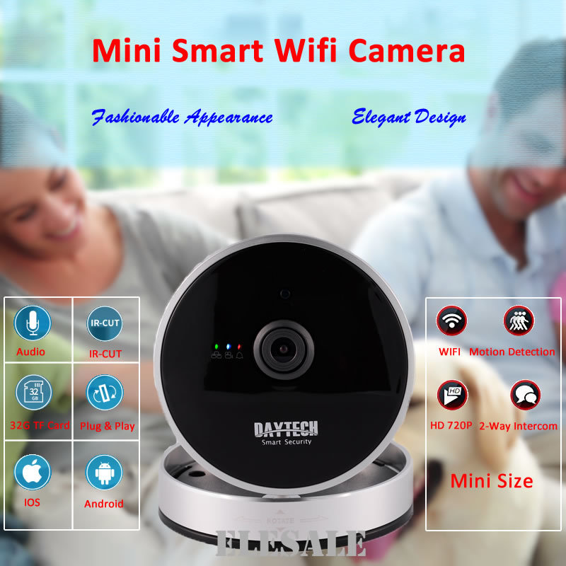 Daytech Wireless Wifi HD IP Camera 720P Surveillance Camera Motion Detection Night Vision Two Way Audio P2P ONVIF DT-C8814 howell wireless security hd 960p wifi ip camera p2p pan tilt motion detection video baby monitor 2 way audio and ir night vision