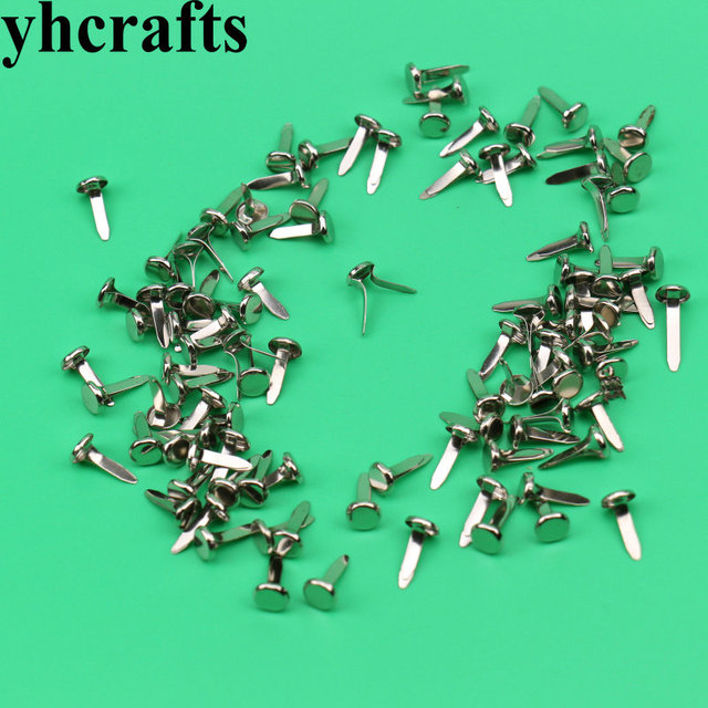 100PCS/LOT.Silver JS-ALL.Fastener Brads,Creative crafts.Kindergarten supplies.Early educational toys.Craft material.OEM.Stock