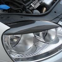 Golf 5 en fiber de carbone de voiture phare sourcils cover version autocollant pour volkswagen vw mk5 2005-2007 livraison gratuite
