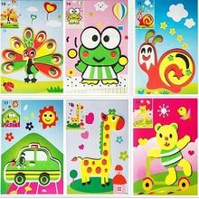 DIY Handgemaakte 3D Eva Foam Puzzel Sticker Kleurboek Schilderen Kras Papier Sticker Tekening Sjabloon Voor kinderen