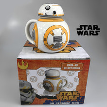 Creative Star Wars R2-D2 Robot Ceramic Mug BB-8 Robot Coffee Cup Darth Vader Porcelain Tea Cup Tumbler for Children Friend Gift