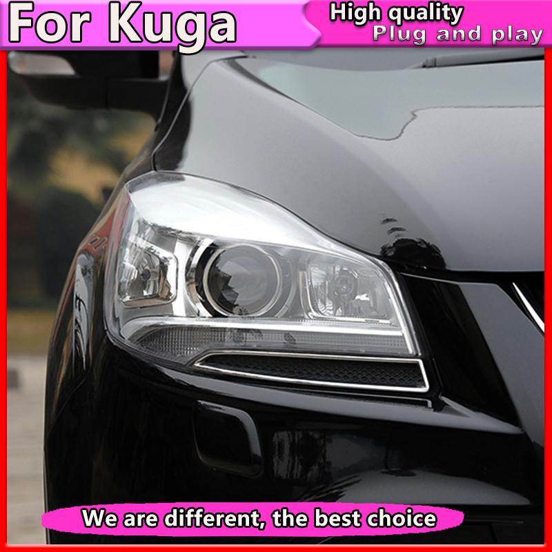 Car Styling For Ford Kuga Escape Headlights 2013 2016 For Escape LED Headlight DRL Bi Xenon Lens High Low Beam Parking Fog Lamp