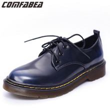 2016 Autumn New England College Wind small wind shoes retro shoes cow muscle heel shoes