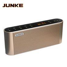 Junke ハイファイ bluetooth ステレオスピーカーポータブルワイヤレススーパー低音デュアルサウンドバーとマイク tf usb fm ラジオ usb サウンドボックス列