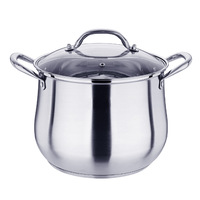 304 stainless steel soup pot thickened three layer double bottom soup pot deepen large stew high end gifts wholesale