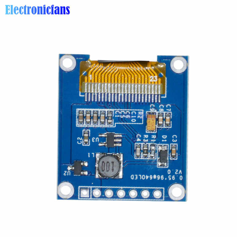 0 95 Inch SPI Full Color OLED Display DIY Module 96x64 LCD For Arduino  SSD1306 Driver IC Top Quality