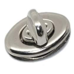 10 КОМПЛЕКТЫ серебристого цвета кошелек Поворотный замок 3,5x3,3 см (1 3/8 inchx1 2/8 дюйма)