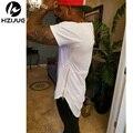 2017 negro/blanco xxl larga cremallera lateral hombre swag hip hop patineta tyga streetwear camiseta de la camiseta de tes superior men clothing