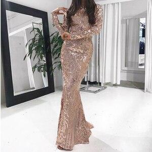 Платье-макси с длинным рукавом и о-вырезом, расшитое блестками, золотого и черного цвета, растягивающееся вечернее платье в пол, вечерние пл...