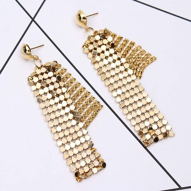 Fashion Jewelry Fashion Small Square Long Earrings Bride Evening Dress Jewelry Accessories New Wedding Earrings Dangle Earrings