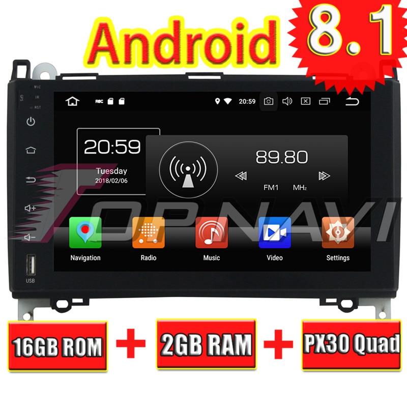 Topnavi Android 8.1 Car Multimedia GPS Navigation for Benz A W169 B W245 (2005 2011) Viano Vito (2009 2010 2011) NO DVD Audio