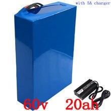 США ЕС нет налога литиевая аккумуляторная батарея 60В 2000Вт батареи 20ah Электрический велосипед аккумулятор с BMS и 50А 67.5 в 5А зарядное устройство бесплатная доставка