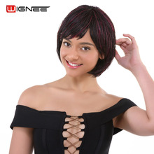 Wignee Short Bob Hair Braided Box Braids Synthetic Wigs For Women Natural 1B99J Heat Resistant Crochet Twist Braiding
