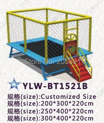 Trampoline sautant d'amusement/lit sautant carré d'enfants/parc de trampoline d'enfants/terrain de jeu de trampoline