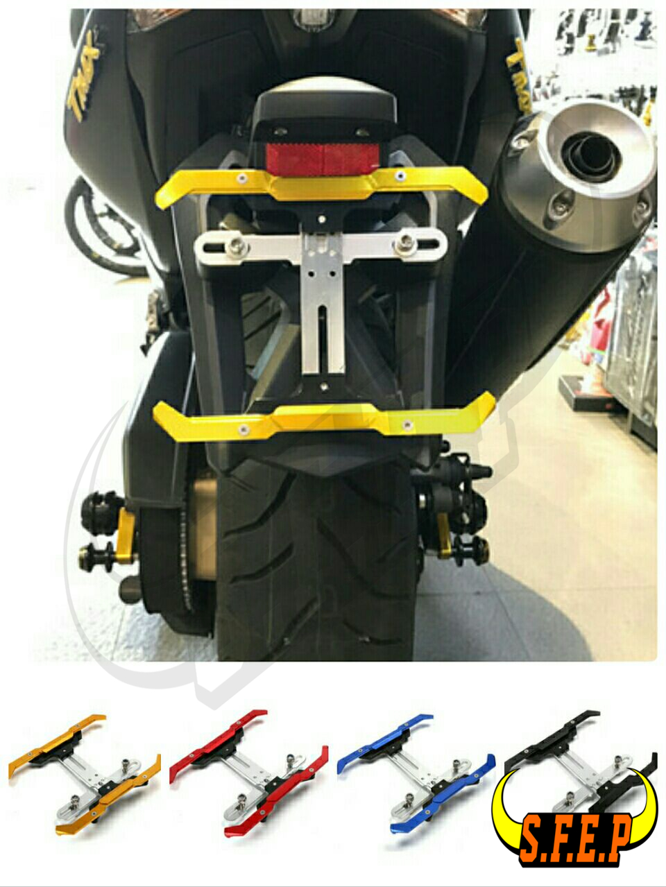 Motorcycle License Number Plate Frame Holder Adjustable Bracket For Yamaha R1 R6 R3 R25 R15 FZ1 FZ6 FZ8 MT-09 MT-10