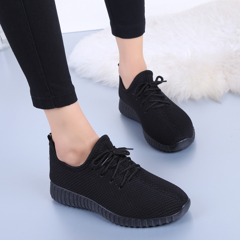 Women Air Mesh Light Soft Sneakers 2019 Summer Fashion Lace Up Comfortable Walking Sports Shoes For Dropshipping Plus Size 35-41