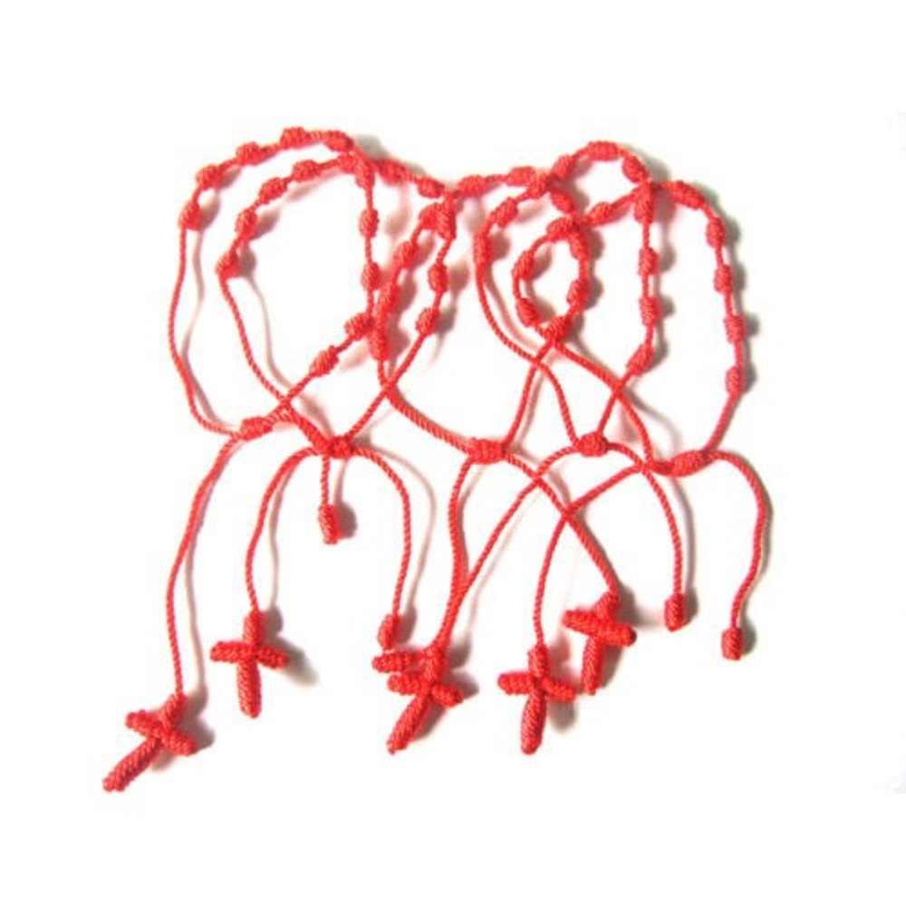 מכירה לוהטת 2PC אדום חוט מחרוזת צמיד מזל אדום ירוק בעבודת יד חבל צמיד לנשים גברים תכשיטי מאהב זוג