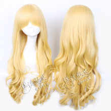 Vampire Knight Souen Ruka Cosplay Wig for Women Girl Anime Costume Wig Christmas Party Gift 60 cm Curly Hair Wig