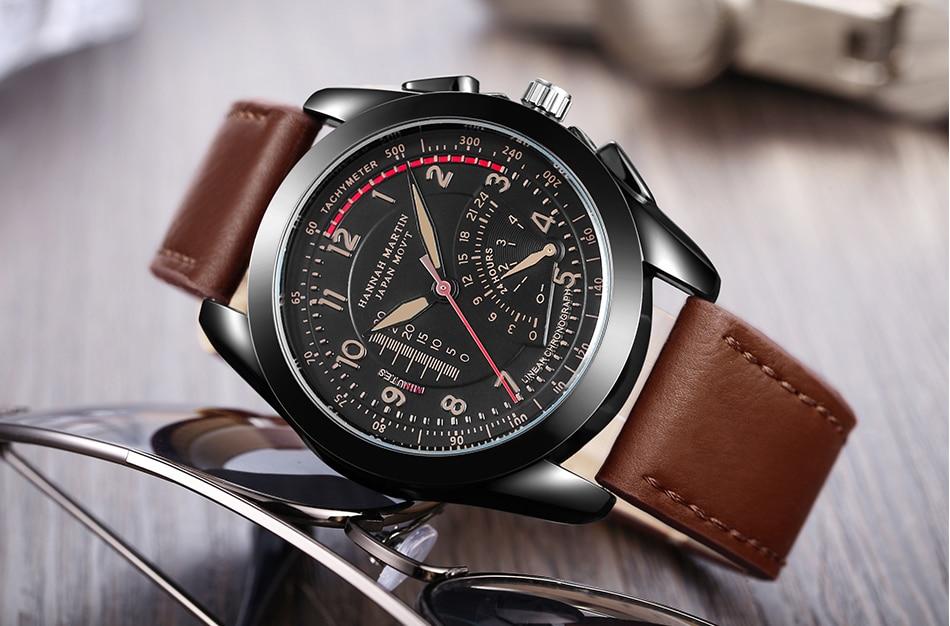 Nuevo reloj ultrafino reloj de cuarzo correa de cuero de moda casual - Relojes para hombres - foto 3