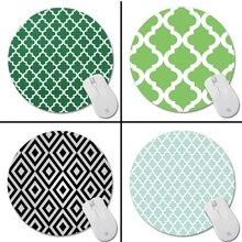 Черный и Белый Цемент Плитка Новый Малый Размер Круглый Коврик Для Мыши Противоскользящие Резиновые Pad