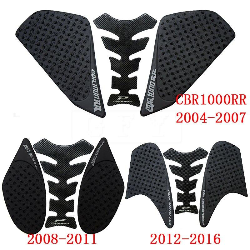 For Honda CBR1000RR 2004 2005 2006 2007 2008 2009 2010 2011 2012 - 2016 Anti Slip Fiber Tank Pad Tank Side Traction 3M Sticker