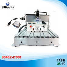 USB CNC 6040Z-D300 Router 3 axis 300w woodworking machine 110V 220V