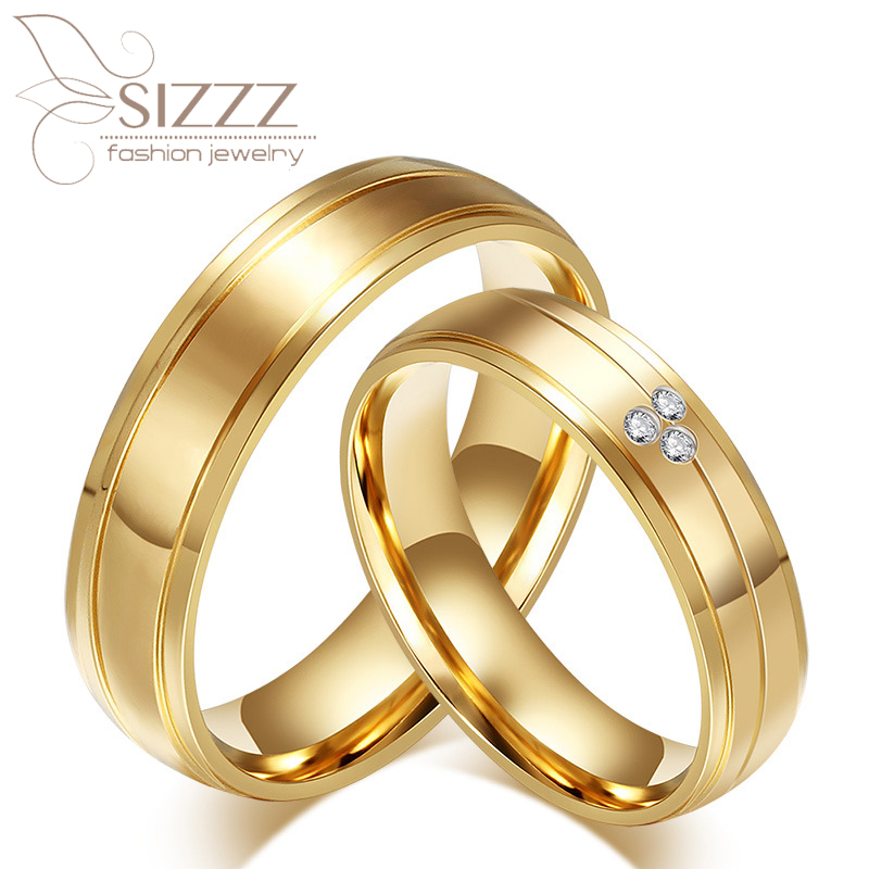 cheap western mens and womens cz diamonds pure titanium his and hers engagement wedding bands couples - Western Wedding Rings