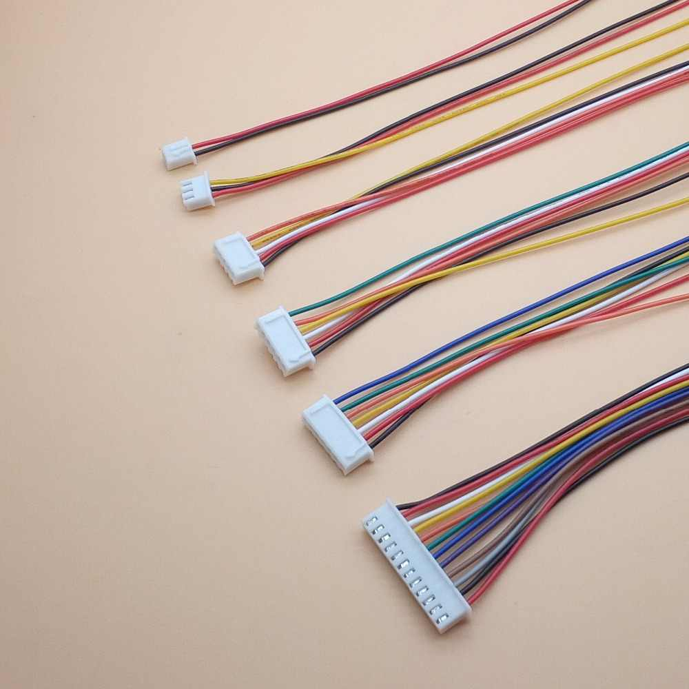20 unids/lote 26AWG JST XH2.54/2/3/4/5/6/7/8/9 /10 Pin paso 2,54mm conector Cable 30 cm longitud