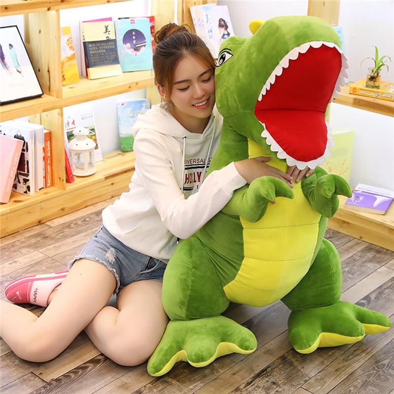Big Size Tyrannosaurus Soft Doll Dinosaur Plush Toy Tyrannosaurus Soft Stuffed Doll 105cm 160cm Big Size Kids Birthday gift