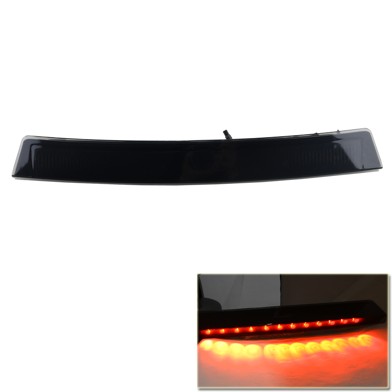 ФОТО Smoked Black Lens Led Third Additional Brake Lights Lamp For Ford Mustang 1999-2004 High Power Car Styling Led Light Source