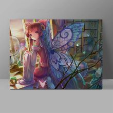 Butterfly Elf Wall Pictures Lovely Fairy Canvas Anime Girl Painting Restaurant HD Print Art