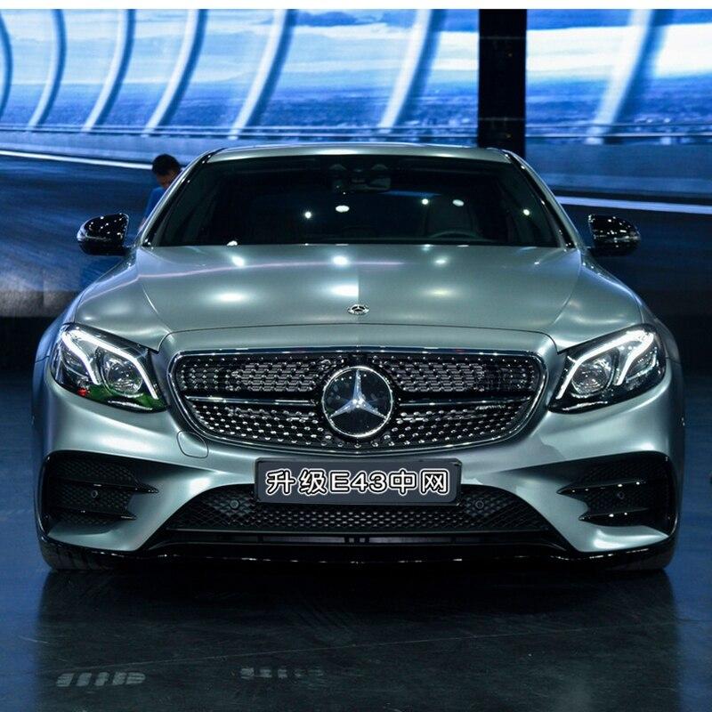 MONTFORD Per Mercedes Benz Classe E E200 E300 E250 E320 W213 E43 E350 E450 2016 2017 Materiale ABS Corsa Davanti Grill Mesh griglia