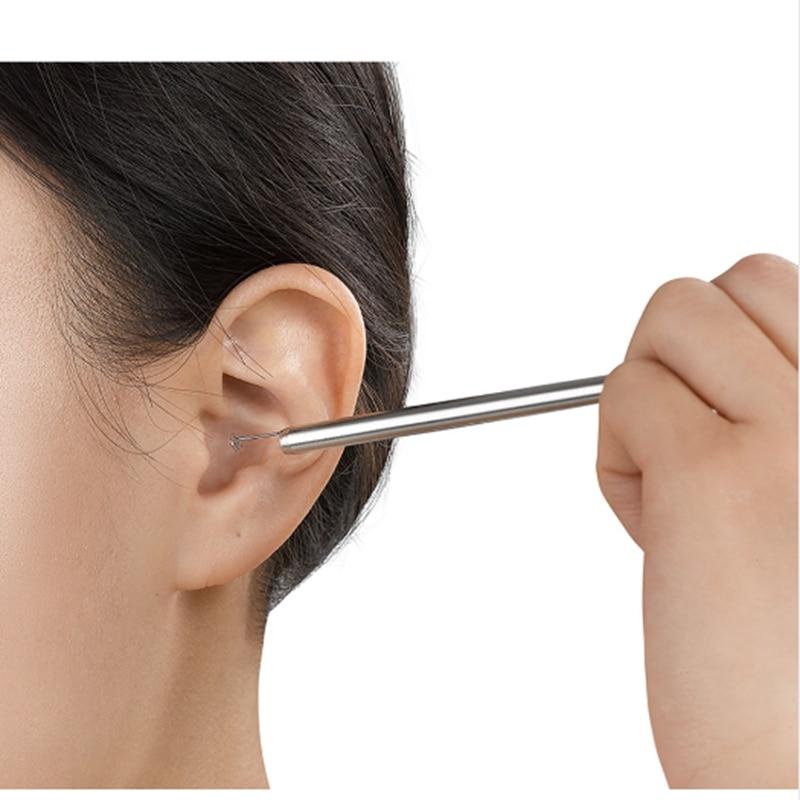 Digital Video Ear Pick Lighted Ear Curette Earwax Removal Otoscope Endoscope Camera Earpick Ear Cleaning Tool Free Shipping professional diagnositc otoscopio medical ear otoscope with halogen light free shipping