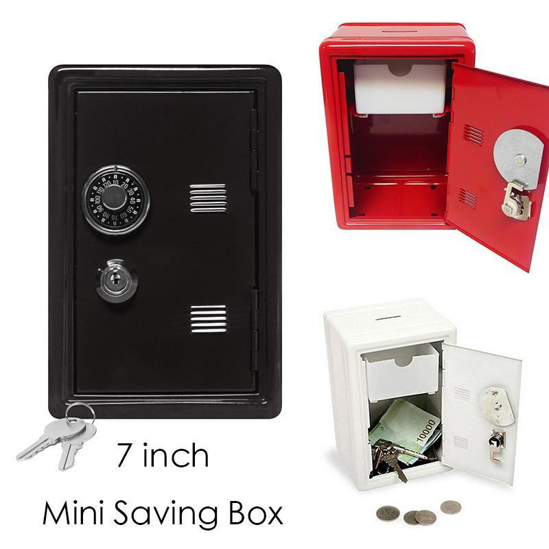 1Pc Creative Design Metal Coin Money safe Kids Coin Saving Pot Box Money Saving Box Best Selling 11.5 x 9.5 x 17.5 cm #30