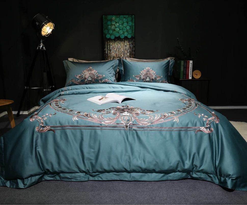 4 Pieces Bohemia Style Embroidery Luxury Bedding Set King